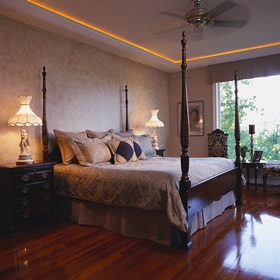 bedroom with hardwood floor