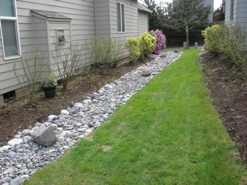 Simple, on-ground French drain