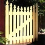 Picket fence gate