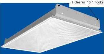Installing lights fans ventilators in suspended ceilings lay in fluorescent light fixture with holes for qsq mozeypictures Images