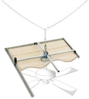 Suspended Ceiling Support For Surface Mounted Fans Light Fixtures And Other Devices