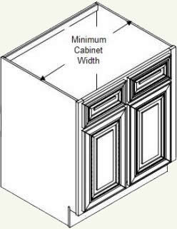 measuring for the minimum cabinet - Kitchen Sink Cabinet Size