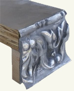 Ornate pewter countertop edge - 1