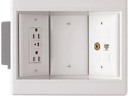 Recessed flat panel electrical box