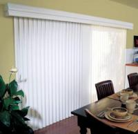 Window treatments - Vertical blinds on outside of sliding glass door