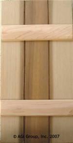 Board And Batten Exterior Wood Shutter
