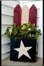flag planter - free plans, drawings & instructions