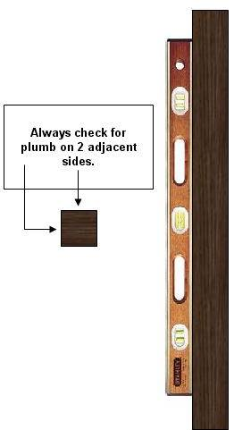 Using a level to plumb a post  sc 1 st  Renovation Headquarters & Determining Plumb Square \u0026 Level