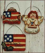 patriotic ornaments - free plans, drawings & instructions