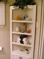 bathroom corner shelf unit