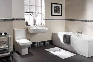 bathroom with horizontal window blind - Bathroom Window