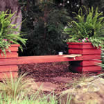 bench seat with planters
