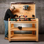 cordless tool charging bench - free plans, drawings and instructions