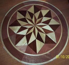 Charming Hardwood Flooring Medallion