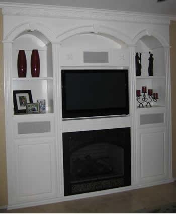 Built In Drywall Entertainment Center - Interior Design Ideas