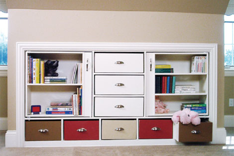 Knee Wall Cabinet And Storage