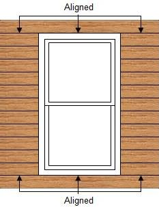 Correct Lap Siding Window Alignment
