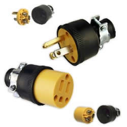 male and female electrical plug