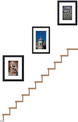 Picture Collage On Stairs