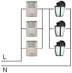 schematic multiple motion sensors how to wire 2 or more motion sensors to the same lights presence detector wiring diagram at eliteediting.co