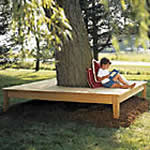square wrap around tree bench plans