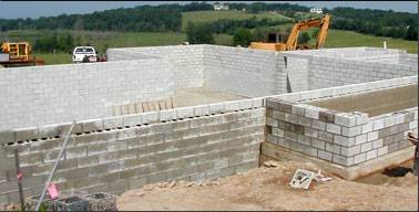 Concrete Block Used To Construct Basement Walls
