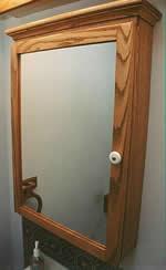 Oak Medicine Cabinet Mirror