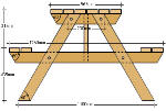 How To Make A Picnic Table - 19 Free Plans - Plans 1 - 8