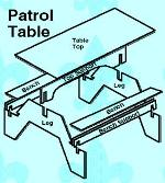 Interlocking Camp Table