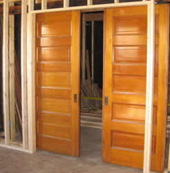 rough in for double pocket doors