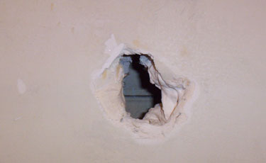 Large hole in drywall