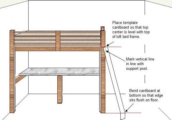 bed with stairs loft bunk bed building plans build a loft bed plans ...