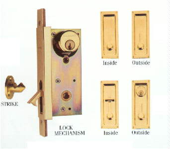 Figure 13   Pocket Door   Keyed Door Lock