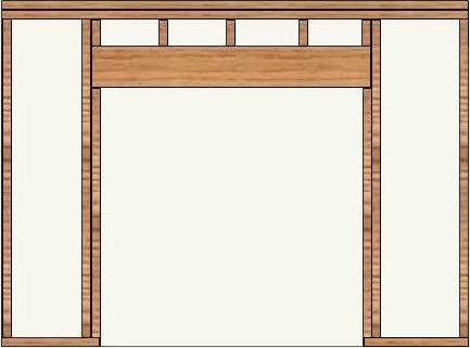 rough in framing for a pocket door in a supporting wall