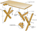 Sanoma picnic table