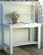 rugged potting bench