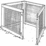Wood and wire compost bin