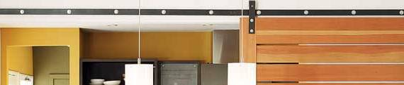 contemporary sliding door track and hardware