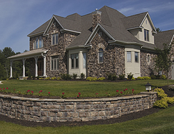 house with cultured stone siding