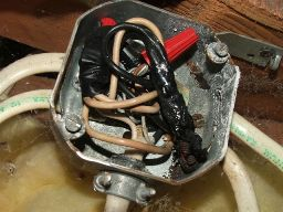 fire in electrical box with aluminum and copper wires