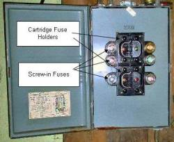 fuse panel labelled cr 250 changing a fuse panel to a circuit breaker panel part 1