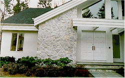 house with natural stone siding