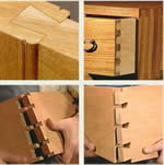 kitchen cabinet drawer dovetail joint