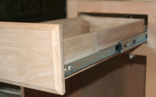 kitchen cabinet full extension drawer