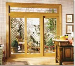 Wood Framed Sliding Gl Door