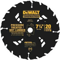 wet and pressure treated circular saw blade