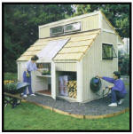 garden shed and firewood storage - free plans, drawings & instructions