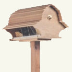 barn roof bird feeder