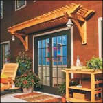over door pergola - free plans, drawings & instructions