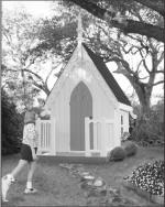 american gothic children's playhouse - free plans, drawings & instructions